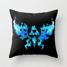 Zelda in Blue Fire Throw Pillow