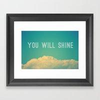 Baby, You Will Shine! Framed Art Print