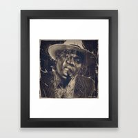DARK SMOKE Framed Art Print