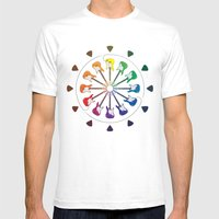 Vivid Melody Mens Fitted Tee White SMALL