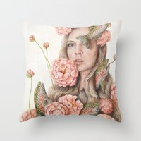 Flop Or Flower Throw Pillow