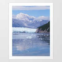 Glacier Summit Reflection Art Print