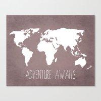 Adventure Awaits World M… Canvas Print