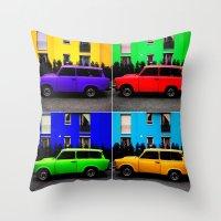 Eastern Germany Car - Tr… Throw Pillow