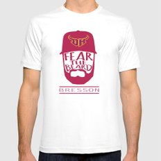 Fear the Beard Mens Fitted Tee SMALL White
