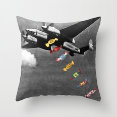 Candy Bomber Throw Pillow