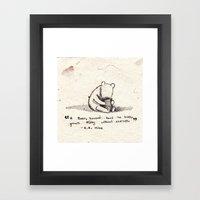 Winnie the Pooh Framed Art Print