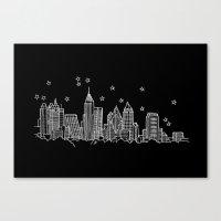 Atlanta, Georgia City Skyline  Canvas Print