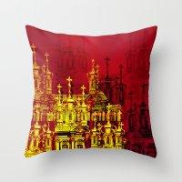 Golden Domes Throw Pillow