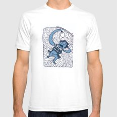 laziness Mens Fitted Tee SMALL White