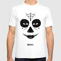 Muerte Del Santo Mens Fitted Tee White SMALL