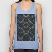 Diamond Art Deco; - Black & Gold  Unisex Tank Top