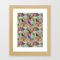 Vegetable Flowers Framed Art Print