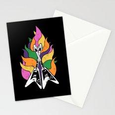 Frying V (Black) Stationery Cards