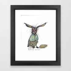 Bertie Framed Art Print