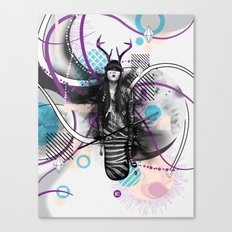 Moody Mind Poster Canvas Print