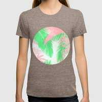Tropical N Womens Fitted Tee Tri-Coffee SMALL