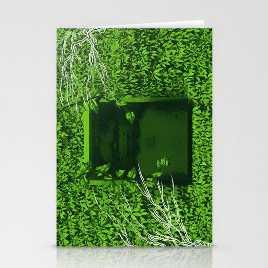 """Overgrown"" by Justin Hopkins Stationery Card"