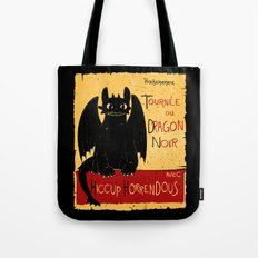 Dragon noir Tote Bag