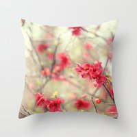 Dancing Quince Throw Pillow