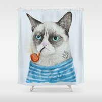 Sailor Cat I Shower Curtain
