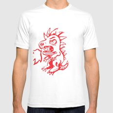 Little Monster Mens Fitted Tee SMALL White