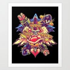 BOWSER NEVER LOVED ME Art Print
