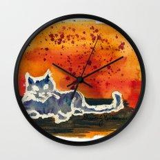 Kitty Love Wall Clock