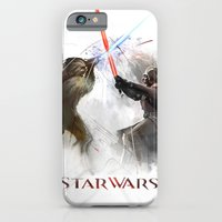 iPhone & iPod Case featuring Star wars duel  by Tyler Edlin Art
