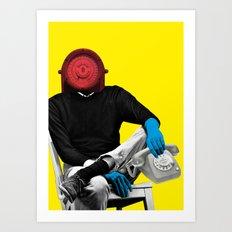 Telephone man Art Print