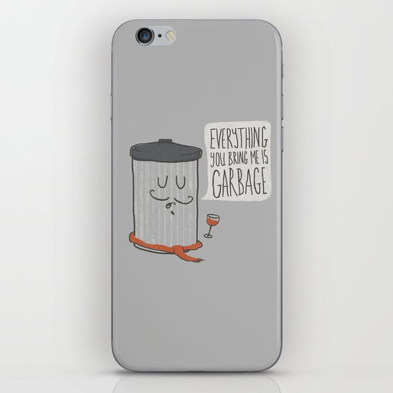 French Trash Can iPhone & iPod Skin