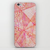 Circle Of Life - pink & orange iPhone & iPod Skin