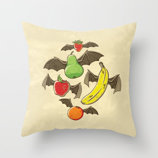 Fruit Bats Throw Pillow