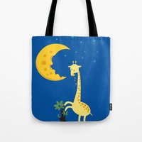 Tote Bag featuring The Delicious Moon Cheese by W.H.Tham