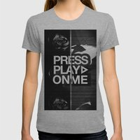 Pressplayonme Womens Fitted Tee Athletic Grey SMALL