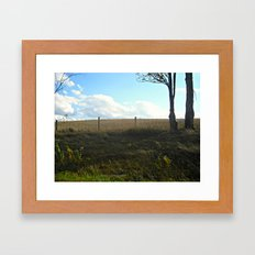 Distant Fields Are Always Greener Framed Art Print