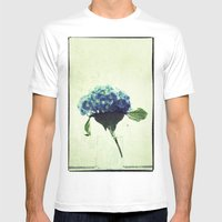 Hydrangea My Favorite Mens Fitted Tee White SMALL