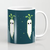 Happy Pixel Daikon Mug