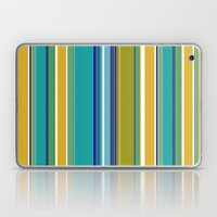 Turquoise And Yellow Str… Laptop & iPad Skin