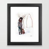 Woodland Frost Framed Art Print