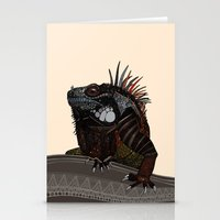 iguana ecru Stationery Cards