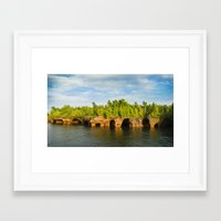 Sea caves #7 Framed Art Print