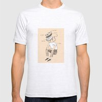 Hot dog bro Mens Fitted Tee Ash Grey SMALL