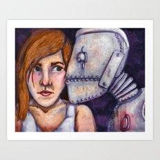 Robot Kiss Art Print
