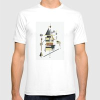 Losing Balance Mens Fitted Tee White SMALL