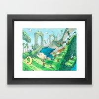 Starring Sonic And Miles… Framed Art Print