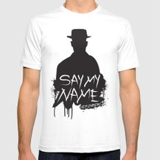 Say My Name - Heisenberg (Silhouette version) White Mens Fitted Tee SMALL