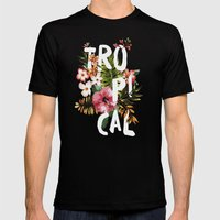 Tropical II Mens Fitted Tee Black SMALL