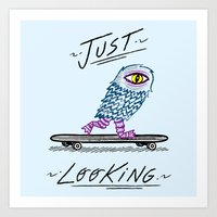 Just Looking Art Print