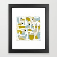 FLOCK Framed Art Print